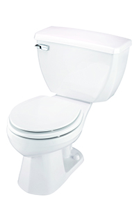 Gerber 21-304 Ultra Flush Round Front Two-Piece Pressure-Assist Toilet - 14-inch Rough-In