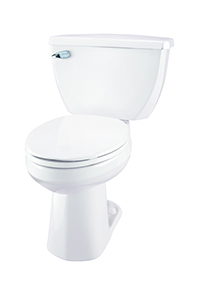 Gerber 21-317 Ultra-Flush Pressure Assist ErgoHeight™ Elongated Two-Piece Toilet - 10-inch Rough-In