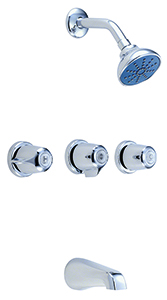 Gerber 47-130-83 Gerber Classics Three Handle 11 Inch Centers Tub & Shower Fitting 2.0gpm Chrome