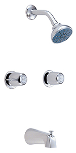 Gerber 48-724-83 Classicsª Two Handle Tub & Shower Fitting