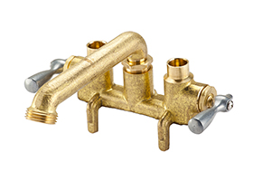 Gerber 49-531 Gerber Classics 2 handle Clamp On Laundry Faucet W/ Direct Sweat Connections -Threaded Spout 2.2gpm (Rough Brass)