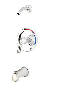 Gerber 00G9013LS - Maxwell Tub & Shower trim kit, less showerhead, chrome