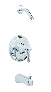Gerber 00G9093LS - Waveland Tub & Shower trim kit, less showerhead, chrome