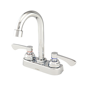 Gerber C4-444-54 Commercial 2 Handle Bar Faucet With Gooseneck Chrome