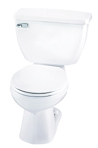 Gerber EF-21-302 Ultra Flush 1.1 gpf Round Front Two-Piece Toilet - 12-inch Rough-In