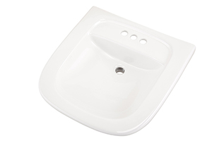 "Gerber NH-12-474 North Point ADA Wall Hung Lavatory 4""CC Sealed Overflow White"