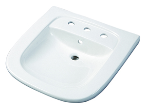 "Gerber NH-12-478 North Point ADA Wall Hung Lavatory 8""CC Sealed Overflow White"