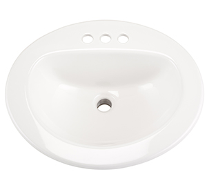 "Gerber NH-12-834-CH Maxwell Oval 4"" Center Self-Rimming Hygienic Basin"